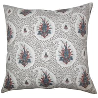 """Zaci Floral 22"""" x 22"""" Down Feather Throw Pillow Multi"""