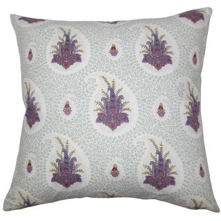 Zaci Floral 22-inch Down Feather Throw Pillow Pink
