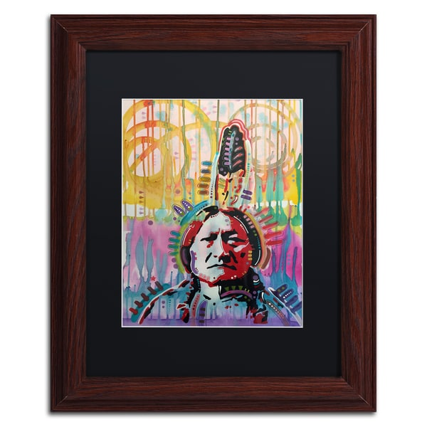 Dean Russo 'Sitting Bull 2' Matted Framed Art