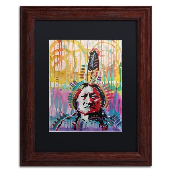 Dean Russo 'Sitting Bull 2' Matted Framed Art