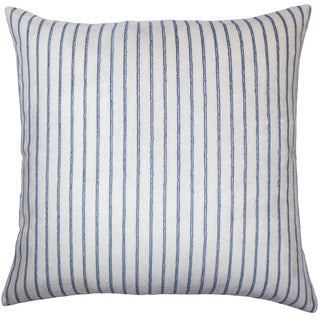 Maaike Striped 22-inch Down Feather Throw Pillow Blue