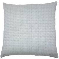 Nahuel Geometric 22-inch Down Feather Throw Pillow Aqua