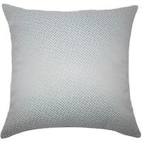 Pertessa Geometric 22-inch Down Feather Throw Pillow Aqua