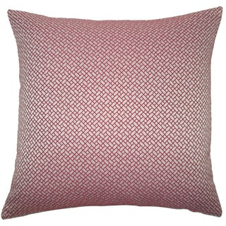 Pertessa Geometric 22-inch Down Feather Throw Pillow Berry