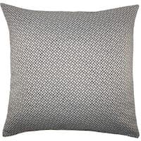 Pertessa Geometric 22-inch Down Feather Throw Pillow Black White