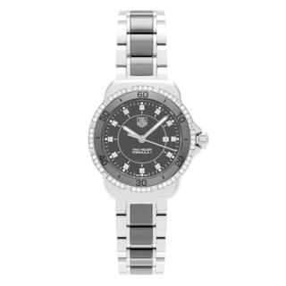 Tag Heuer Women's WAH1312.BA0867 'Formula 1' Stainless Steel 3/8 CT TDW Diamond Link Bracelet Watch (H-I, I1-I2)
