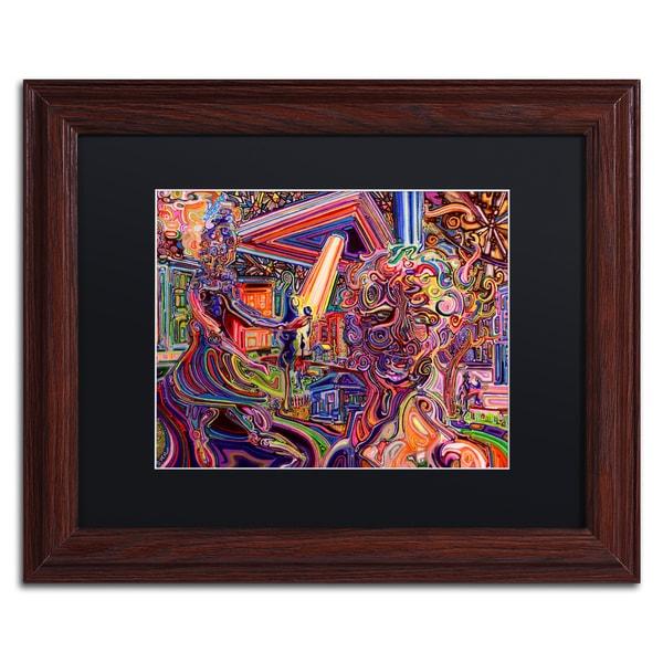 Josh Byer 'Mothership' Matted Framed Art