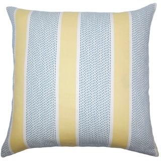 Velten Striped 22-inch Down Feather Throw Pillow Lemon