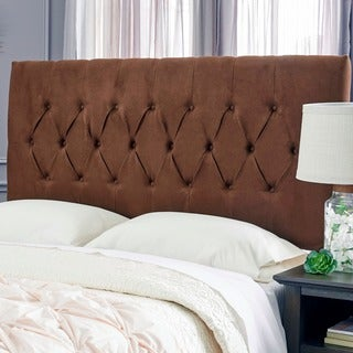 Humble + Haute Hudson Suede Chocolate Brown Upholstered Headboard