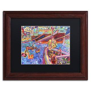 Josh Byer 'Banana Crane' Matted Framed Art