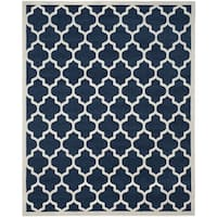 Safavieh Newport Navy/ Cream Area Rug - 8' x 10'