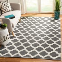 Safavieh Montauk Hand-Woven Grey/ Ivory Cotton Area Rug - 8' x 10'