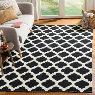 Safavieh Montauk Hand-Woven Black/ Ivory Cotton Area Rug (8' x 10')