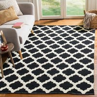Safavieh Montauk Hand-Woven Black/ Ivory Cotton Area Rug - 8' x 10'