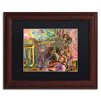 Josh Byer 'The Suntanning Man' Matted Framed Art - Multi