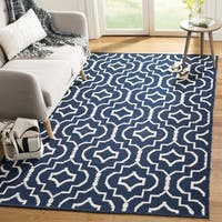 Safavieh Montauk Hand-Woven Navy/ Ivory Cotton Area Rug - 8' x 10'