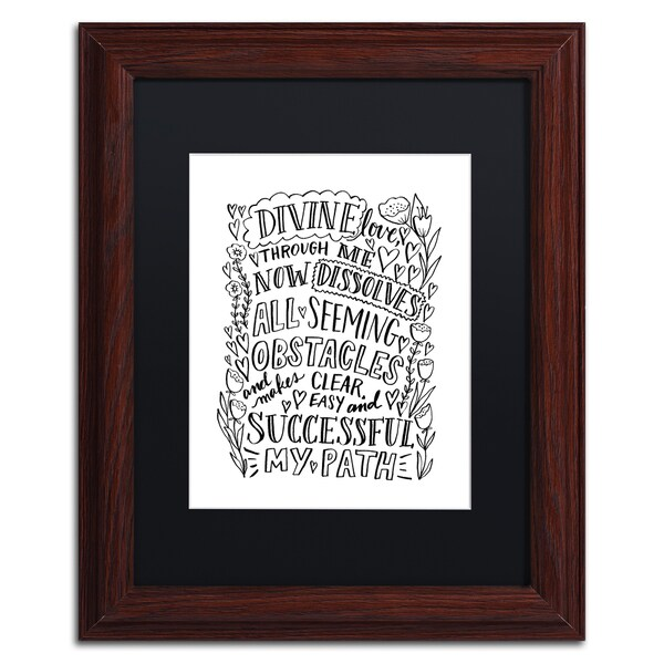 Elizabeth Caldwell 'Divine Love' Matted Framed Art