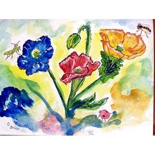 Betsy Drake Bugs & Poppies Doormat (30 x 50)