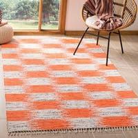 Safavieh Montauk Hand-Woven Orange/ Multi Cotton Area Rug - 8' x 10'