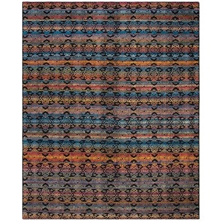 Safavieh Marrakech Hand-Knotted Black/ Multi Wool Area Rug (9' x 12')