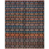 Safavieh Marrakech Hand-Knotted Black/ Multi Wool Area Rug - 9' x 12'