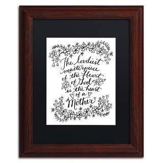 Elizabeth Caldwell 'Mothers Heart' Matted Framed Art