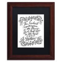 Elizabeth Caldwell 'Mothers Heart' Matted Framed Art - Brown