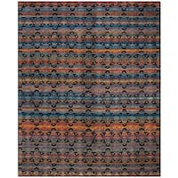 Safavieh Marrakech Hand-Knotted Black/ Multi Wool Area Rug (8' x 10')