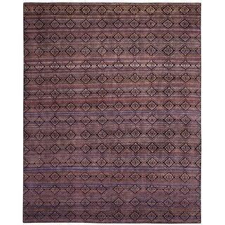 Safavieh Marrakech Hand-Knotted Purple/ Multi Wool Area Rug (9' x 12')