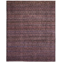 Safavieh Marrakech Hand-Knotted Purple/ Multi Wool Area Rug - 9' x 12'