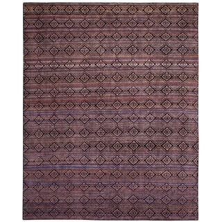 Safavieh Marrakech Hand Knotted Purple Multi Wool Area Rug 9 X 12