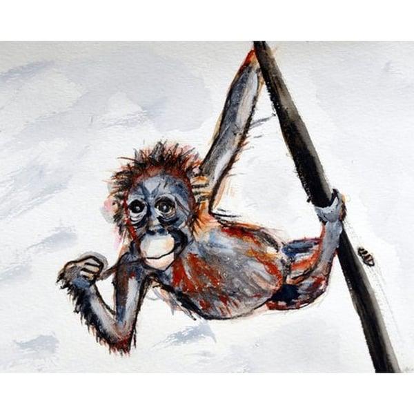 Betsy Drake 'Betsy's Monkey' 30-inch x 50-inch Door Mat