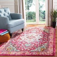 Safavieh Monaco Bohemian Medallion Pink/ Blue Distressed Area Rug - 8' x 10'