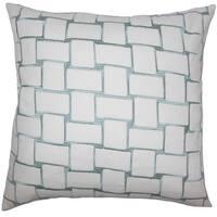 Kalyca Geometric 22-inch Down Feather Throw Pillow Aqua