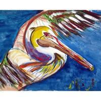 Betsy Drake 'Pelican Wing' 30x50-inch Door Mat