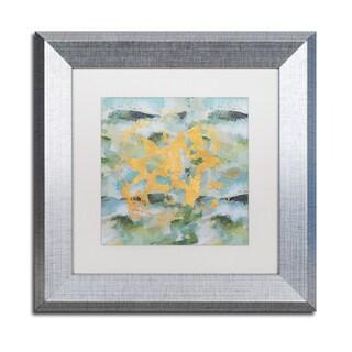 Lisa Powell Braun 'Geode Abstract 1' Matted Framed Art