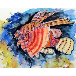 Betsy Drake Betsy's Lion Fish Door Mat (30 Inch x 50 Inch)
