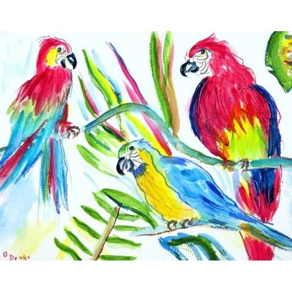 Betsy Drake 'Three Parrots' Door Mat (30 Inch x 50 Inch)
