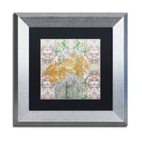 Lisa Powell Braun 'Floral Abstract' Matted Framed Art