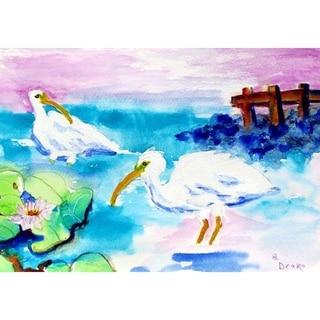 Betsy Drake Multicolor White Ibis Door Mat (30 x 50)