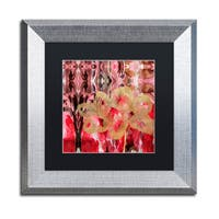 Lisa Powell Braun 'Daisy Abstract' Matted Framed Art - Pink