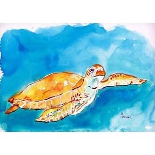 Betsy Drake 'Brown Sea Turtle' Door Mat (18 Inch x 26 Inch)