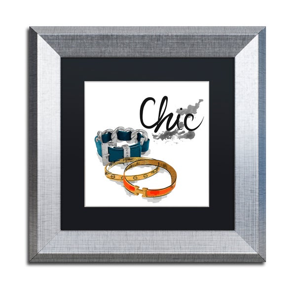 Lisa Powell Braun 'Bracelets' Matted Framed Art