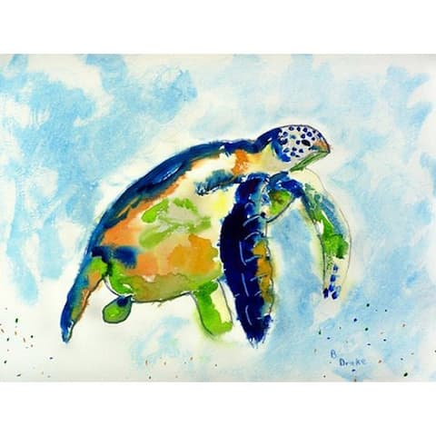 Betsy Drake Blue Sea Turtle Doormat