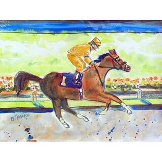 Betsy Drake Racing Horse 18 x 26 Doormat