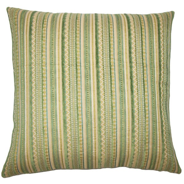 Uorsin Striped 22-inch Down Feather Throw Pillow Mojito