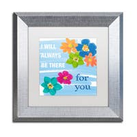 Lisa Powell Braun 'Be there' Matted Framed Art