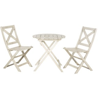 Safavieh Branford White Wash Bistro Set