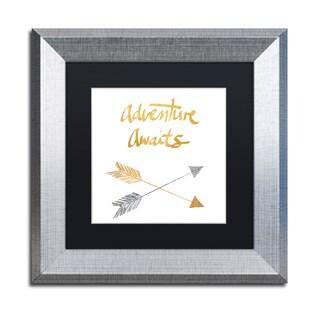 Lisa Powell Braun 'Adventure Arrows' Matted Framed Art