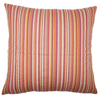 Wilmet Striped 22-inch Down Feather Throw Pillow Cabana